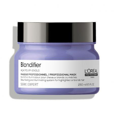 Serie Expert Blondifier Masque professionnel Nutritif et illuminateur pour cheveux blonds ou méchés