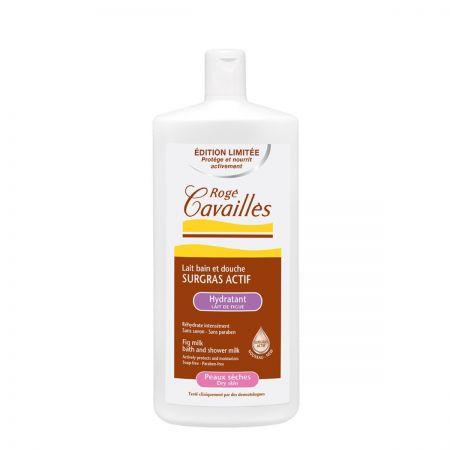 ROGÉ CAVAILLES Surgras Actif Lait bain et douche hydratant - Lait de figue peaux sèches.