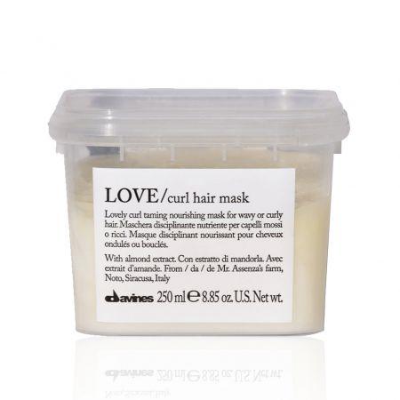 Love Curl Hair Mask Masque disciplinant nourrissant cheveux ondulés bouclés a8004608257158
