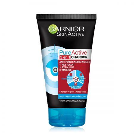SkinActive Pure Active Intensive 3-in-1 Charbon Gel Nettoyant garp08-gni150
