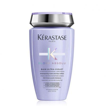 Blond Absolu Bain Ultra-Violet Shampooing violet anti faux-reflets pour cheveux décolorés ou méchés  ker547-spv250