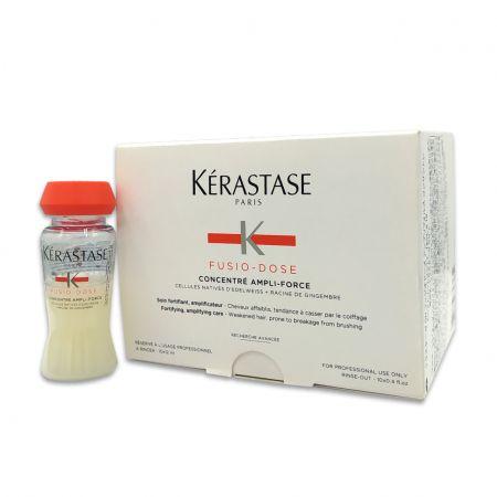 Fusio-Dose Concentré Ampli-Force Soin instantané fortifiant pour cheveux cassants  ker556-sfa012