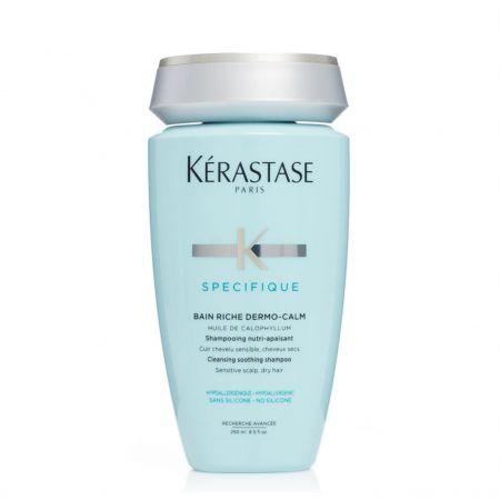 Spécifique Bain Riche Dermo-Calm Shampooing nutri-apaisant pour cuir chevelu sensible, cheveux secs -ker565-sna250