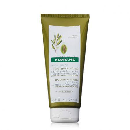 Extrait Essentiel D'Olivier Baume après-shampooing épaisseur vitalité cheveux perte densité klor07-bsd200