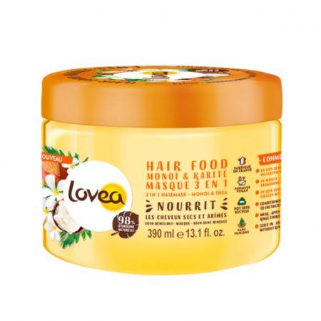 Monoï & Karité Hair Food masque nourrissant pour cheveux secs et abîmés, ingrédients 98% origine naturelle