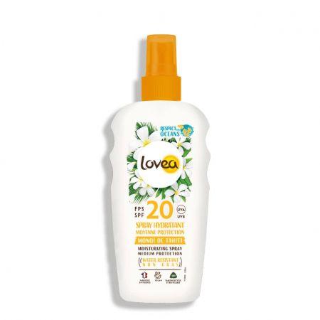 Monoï De Tahiti Spray solaire hydratant protection moyenne SPF20 visage corps lovy75-sth020