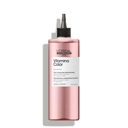Soin concentré fixateur acide de brillance pour cheveux colorés - 400 ml