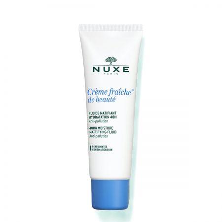 Fluide matifiant hydratation 48h pour peaux mixtes - 50ml