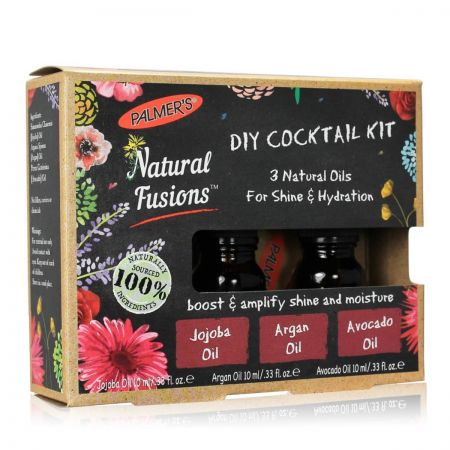 Natural Fusions Diy Cocktail Kit Huiles Naturelles Brillance Hydratation palm36-che310