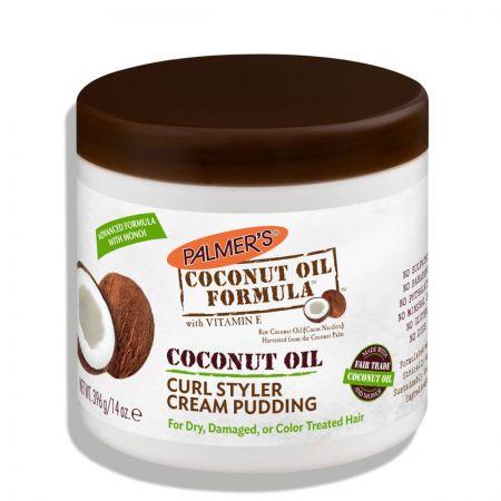 Coconut Oil Formula Curl Styler Cream Pudding Crème Boucles palm37-cbc396